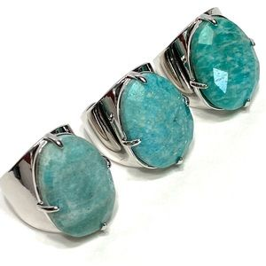 Ring amazonite gemstone.